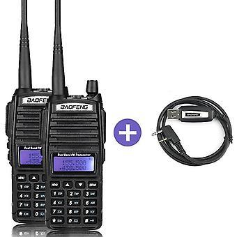 Uv82 Lähetin-Radiopuhelin Kaksitie Radio Talkie Walkie Ham Radio