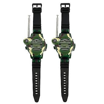 2pcs Walkie Talkies Watches 7 In 1 Camouflage 2 Way Radios  (white)