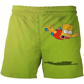 Šortky Letné Teenageri Kreslené nohavice, Deti 3D Oblečenie