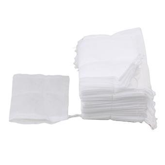 100st Engångs tom rent filterpapper tepåse 8 x 10cm