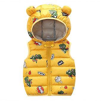 Autumn Warm Down Waistcoat, Kids Outerwear Clothing