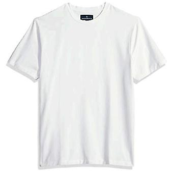 BUTTONED DOWN Heren Crew Neck Supima Cotton Stretch T-Shirt, Zwart, X-Large