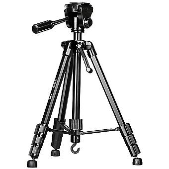 DZK P-880 Portable Tripod Stand Aluminum Alloy 5kg/11lbs Load Capacity Max. Height 148cm/58.2in