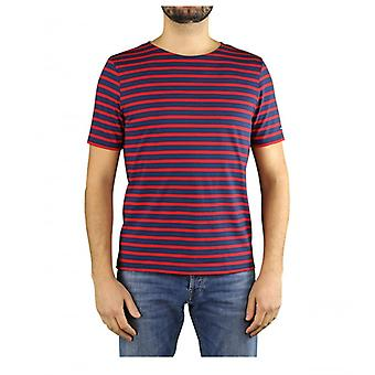 Saint James Levant Modern Navy Blue Red T-shirt