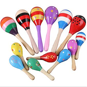Wooden color cartoon sand hammer Toy For Toddlers