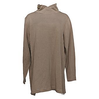 Cuddl Duds Women's Top Plus Top Comfortwear Cowl Neck Tunic Brown A381691