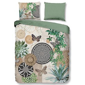 bed cover Skylar 155 x 220 cotton/satin green
