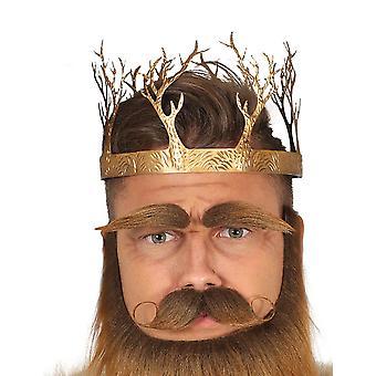 De middeleeuwse koning of de volwassene van de kroon