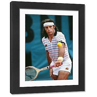 Guillermo Vilas - 1981 French Open. Large Framed Photo. Tennis - 1981 French Open.