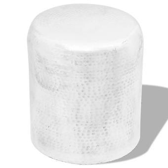 vidaXL taburet/sidebordet af hamret aluminiumsølv