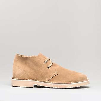 Roamers Unisex Round Toe Suede Piele Desert Boots Stone