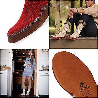 Acorn Womens The Slouch Boot Leather Closed Toe Pull On Slippers