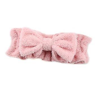 Pink bue hår band med pjusket elastik ansigt vask pandebånd x4740