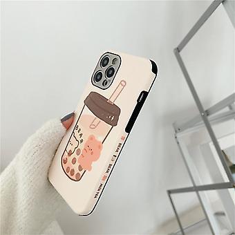 דוב תה חלב עבור iphone12pro מקסימום iphone 11 במקרה טלפון נייד