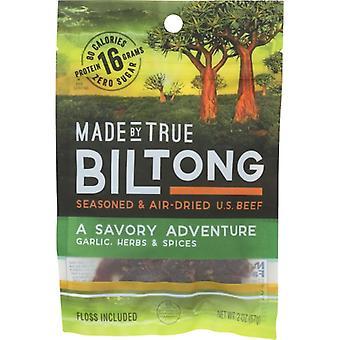 Made By True Biltong Garlic Herb, Case of 8 X 2 Oz
