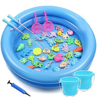 42pack Magnetic Fishing Game Bath Toys For Kids(Round Pond)