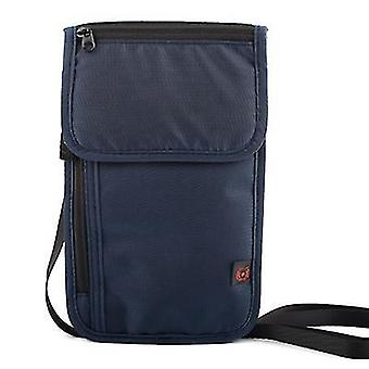 Multifunctional travel passport document driver's license storage bag(Royal Blue)