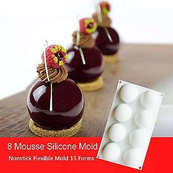 Semi-cerchio Torta Stampo Silicone Stampi Torta Strumento di decorazione Mousse Cake Mold