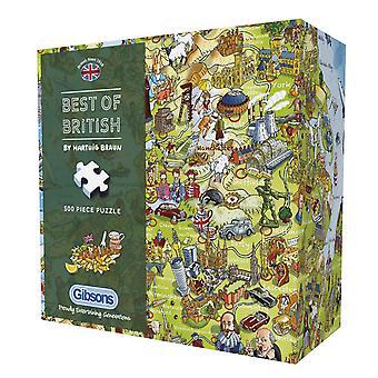 Gibsons Best of British Jigsaw Puzzle en caja de regalo (500 piezas)