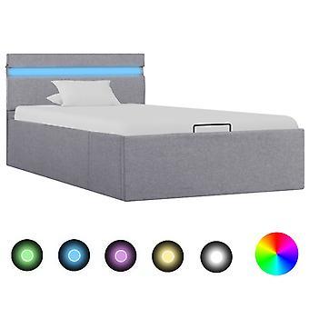 vidaXL تخزين السرير الفضاء الهيدروليكية مع الصمام النسيج الرمادي الفاتح 100×200 سم