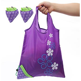 2pcsreusable Grocery Shopping Folding Tote Bags