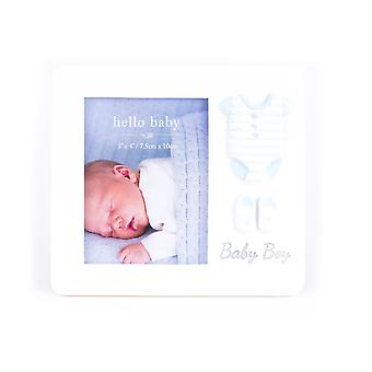 """Hola Baby Frame Suit &Booties Design 'Baby Boy' 3"""" x 4"""""""