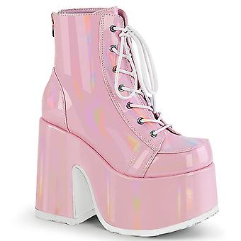 Demonia Women's Boots CAMEL-203 Hologramme B.Pink