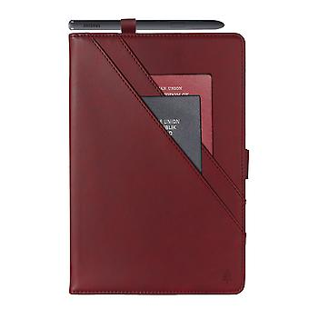 Case For Samsung Galaxy Tab A7 Genuine Quality Leather Stand Cover With Multiple Viewing Angles Wake/sleep Enabled - Red