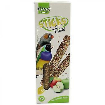 Loves 2 Fruit Sticks - For Exotic Birds - 85 G