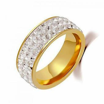 Couple Rings Promise Rings For Couples Titanium Steel Five Rows Full Diamond Ring