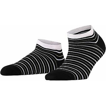 Falke Stripe Shimmer Sneaker Sokken - Zwart