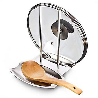 (Type) Stainless Steel Pot Lid Organizer, Pan Cover