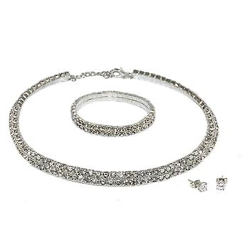 Double Row Tri Set Encrusted With Crystals From Swarovski - 2 Pack