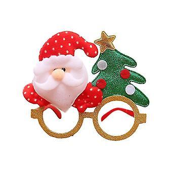 Cute Santa Claus Snowman Elk Bear Antler Shape Cartoon Glasses For Kid''s