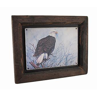 Big Sky Carvers Bald Eagle Wood Frame Wall Art