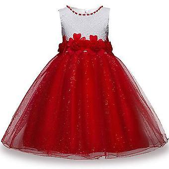 Nyári lányok fél virág labda ruhák ruha, stílus 5 csecsemő