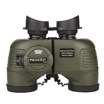 7x50 HD водонепроницаемый военный морской бинокль внутренний дальномер и компас для водных видов спорта, охоты, наблюдения за птицами, катания на лодках и многого другого, (армейский зеленый)