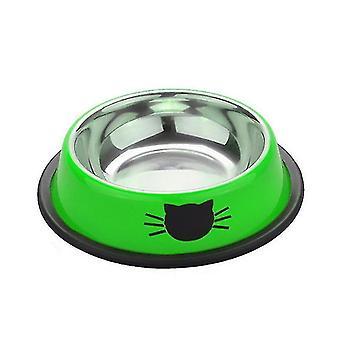 الحيوانات الأليفة السلطانيات مغذيات waterers الفولاذ المقاوم للصدأ وعاء الحيوانات الأليفة الأخضر