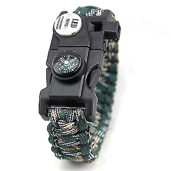 Camping lights lanterns muliti outdoor tools survival bracelet with sos led light paracord braided rope camping hiking
