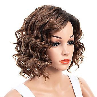 Women Short Curly Fluffy Head Wig