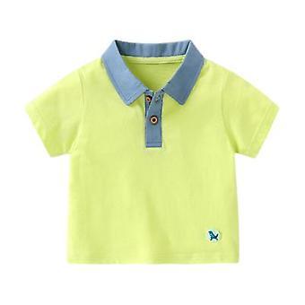 Roupas de bebê camiseta de manga curta Polo Shirt Estampa Top