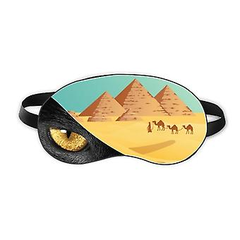 Ancient Egypt Pyrad Camel Pattern Eye Head Rest Dark Cosmetology Shade Cover