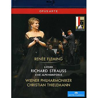 R. Strauss - Renee Fleming Live in Concert: Lieder/Eine Alpensi [BLU-RAY] USA import