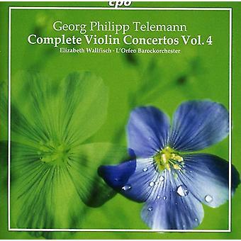G.P. Telemann - Telemann: Concierto para violín completa, importación USA Vol. 4 [CD]