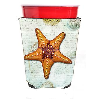 Carolines Treasures  SB3035RSC Starfish  Red Solo Cup Beverage Insulator Hugger