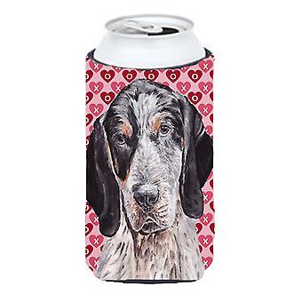Carrapato Coonhound corações e amor grandalhão bebidas isolador Hugger