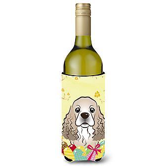 Cocker Spaniel Easter Egg Hunt wijn fles drank isolator Hugger