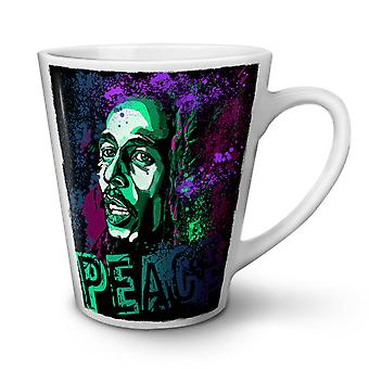 Marley Peace Celebrity NEW White Tea Coffee Ceramic Latte Mug 12 oz | Wellcoda
