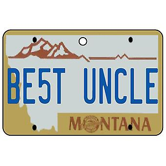 Montana - beste onkel lisens Plate bil Air Freshener