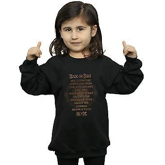 AC/DC Girls Rock Or Bust Lyrics Sweatshirt